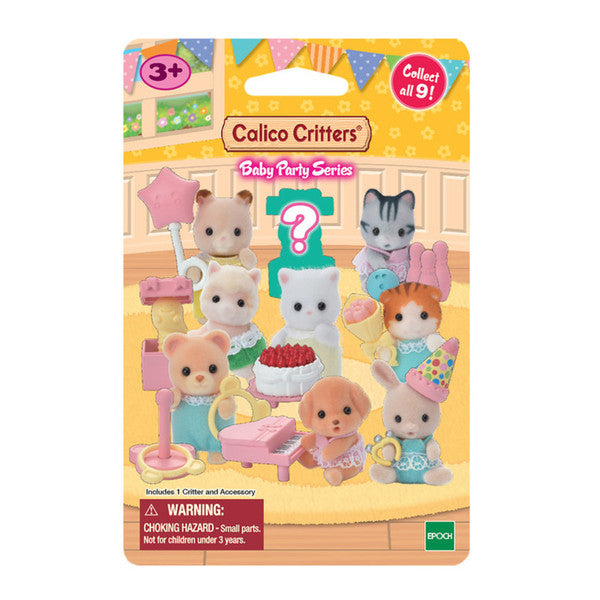 Calico Critters Baby Collectiles - Baby Party Series Mystery Animal Figure
