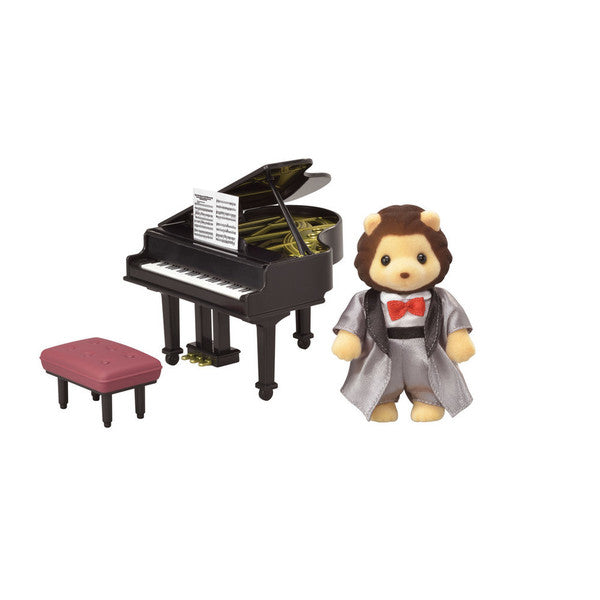 Calico Critters Grand Piano Concert Set with Lion Figure