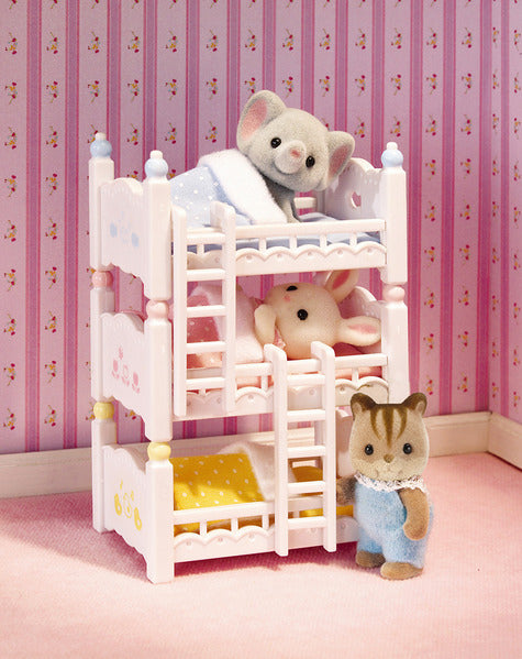 Calico Critters Triple Baby Bunk Bed