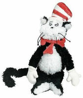"Dr. Seuss THE CAT IN THE HAT Small 9"" Plush by Manhattan Toys"