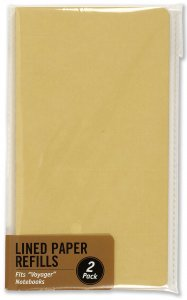 LINED PAPER VOYAGER JOURNAL PAPER PAGE REFILLS, 120 PAGES