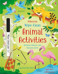 Wipe-Clean Animal Activities Book by Usborne