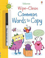 Wipe-Clean Common Words to Copy Activity Book by Usborne