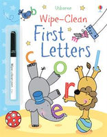Wipe-Clean First Letters Activity Book by Usborne