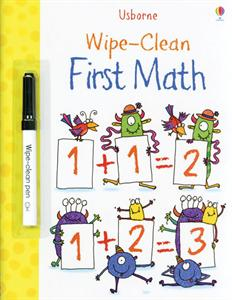 Wipe-Clean First Math Activity Book by Usborne
