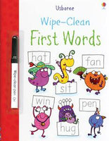 Wipe-Clean First Words Activity Book by Usborne