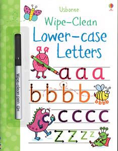 Wipe-Clean Lower-Case Letters Activity Book by Usborne