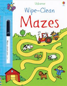 Wipe-Clean Mazes Activity Book by Usborne