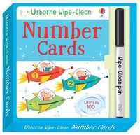 Wipe-Clean Number Cards by Usborne