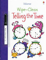 Wipe-Clean Telling Time Activity Book by Usborne