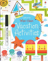 Wipe-Clean Vacation Activities Activity Book by Usborne