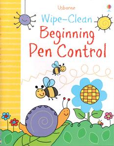 Wipe-Clean Beginning Pen Control Activity Book by Usborne