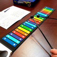 Rock and Roll It – Rainbow Xylophone - Flexible, Learn to play by color