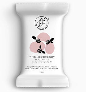 BEAUTY BITES - WHITE CHOCOLATE & RASPBERRY BAR