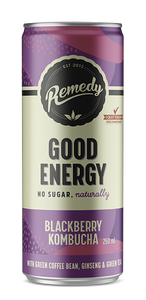 REMEDY GOOD ENERGY BLACKBERRY KOMBUCHA