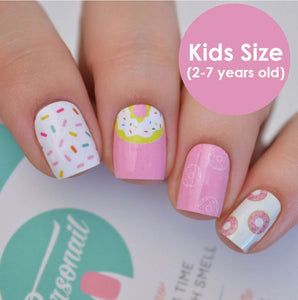 NAIL WRAPS IN 'DONUT' (KIDS SIZE)