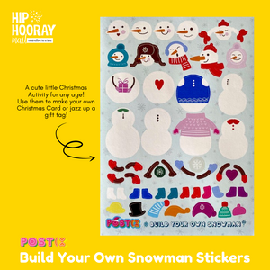 POSTIX STICKER SHEET - DESIGN A SNOWMAN
