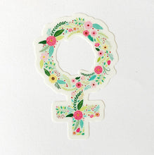 Load image into Gallery viewer, POSTIX STICKER - FLORAL FEMALE ICON STICKER