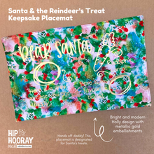 Load image into Gallery viewer, SANTA & REINDEER TREAT PLACEMAT