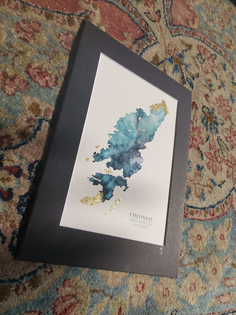 Colonsay Watercolour Map