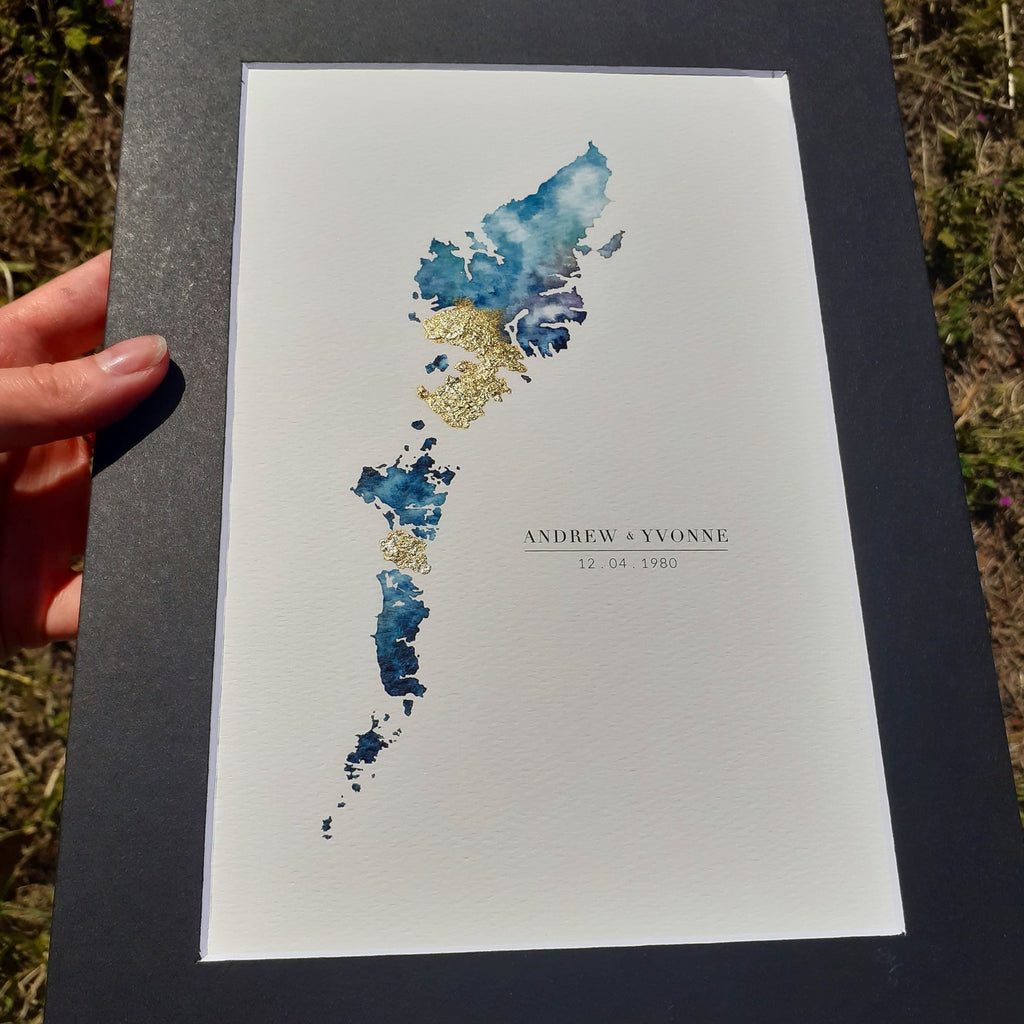 Isle of Harris Map Gift