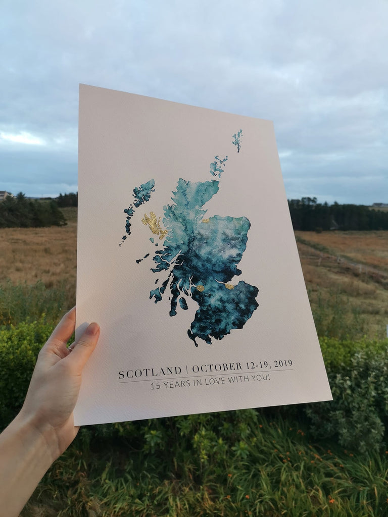 Scotland Custom Wedding Gift