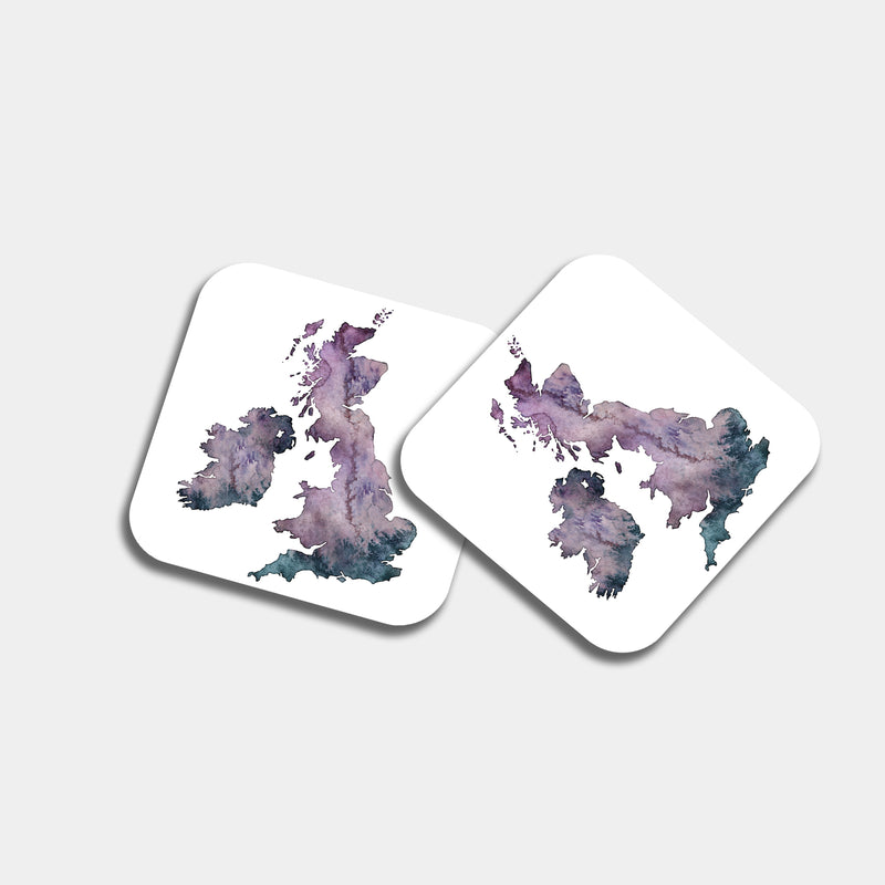United Kingdom Watercolour Coaster