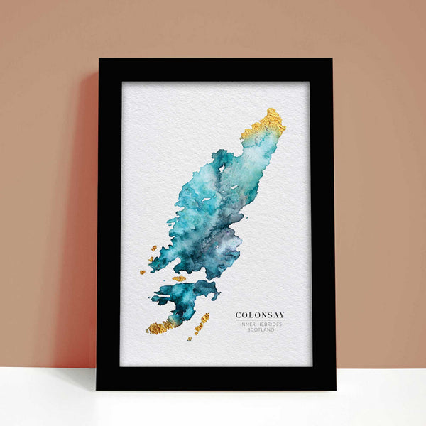 Map of Colonsay Scottish Personal Gift Art