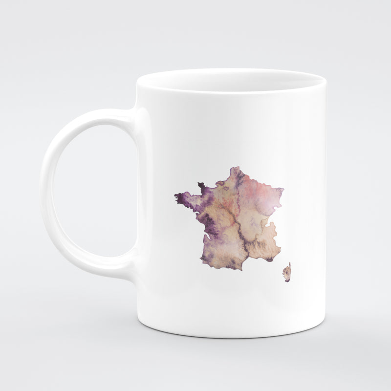 France  Custom Watercolour Mug