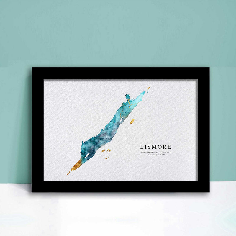 Lismore Watercolour Map Inner Hebrides