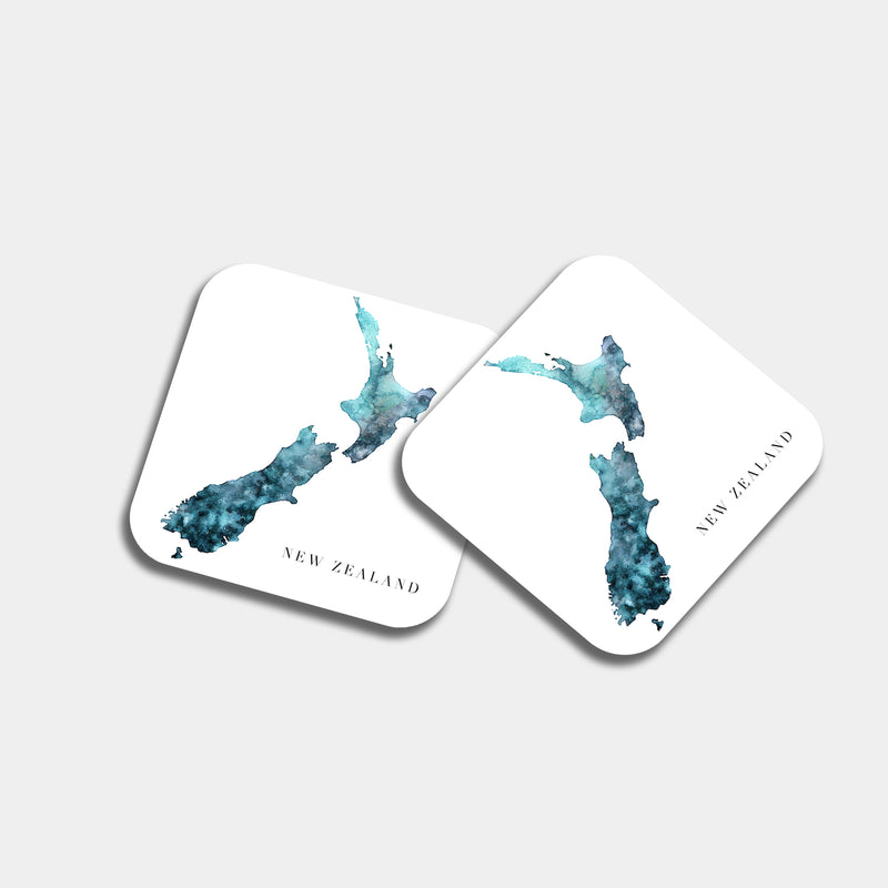 New Zealand Watercolour Coaster