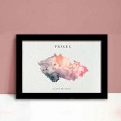 Czech Republic Watercolour Map Print