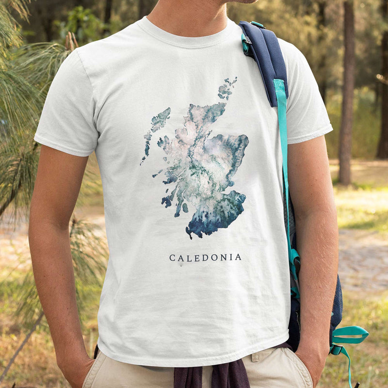 Scotland Watercolour Map Clothing