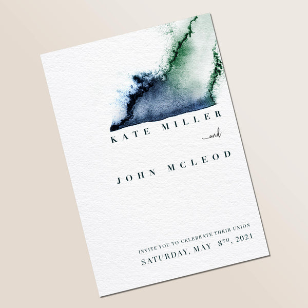 Star Sign Watercolour Wedding Invite