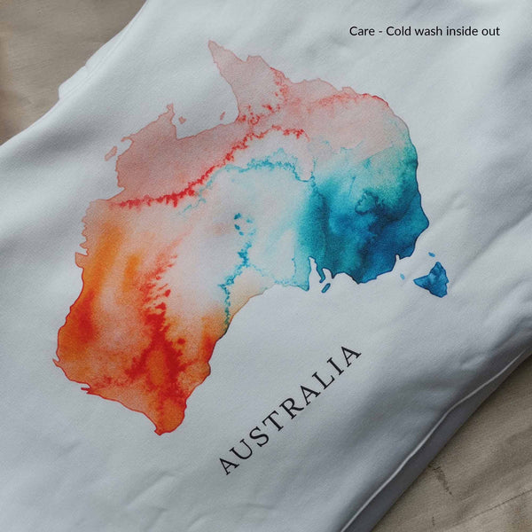 Australia Watercolour Map Clothing