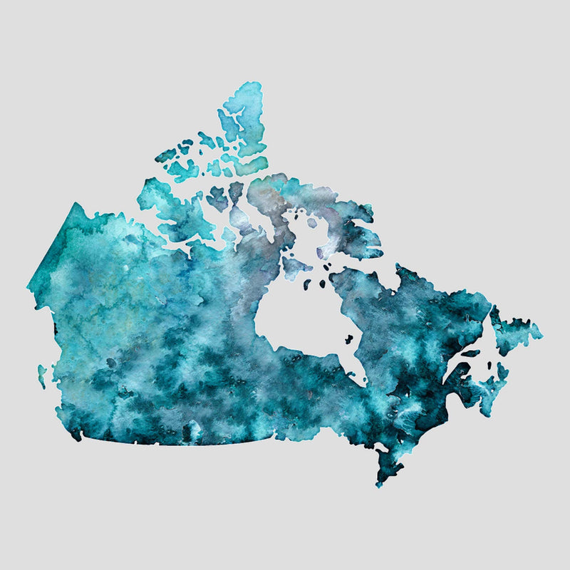 Canada Watercolour Map