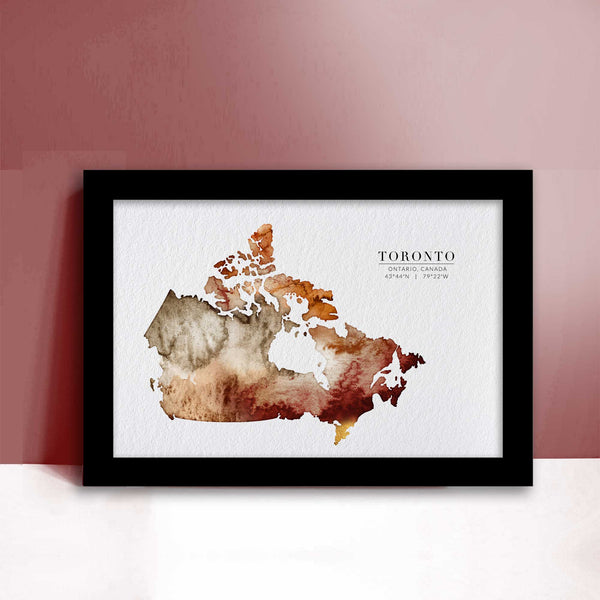Canada Watercolour Map - EJayDesign