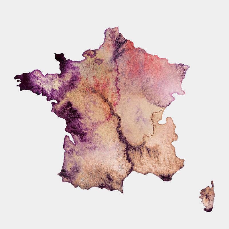 France Watercolour Map