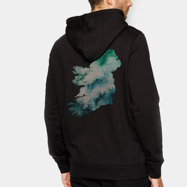 Ireland Hoodie Watercolour Map