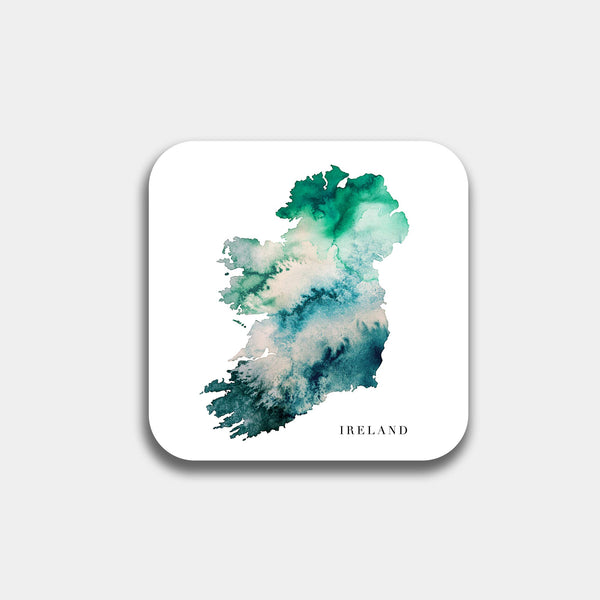 Ireland Watercolour Map Coaster