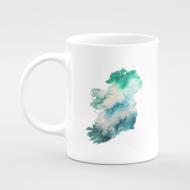Ireland Watercolour Map Custom Mug