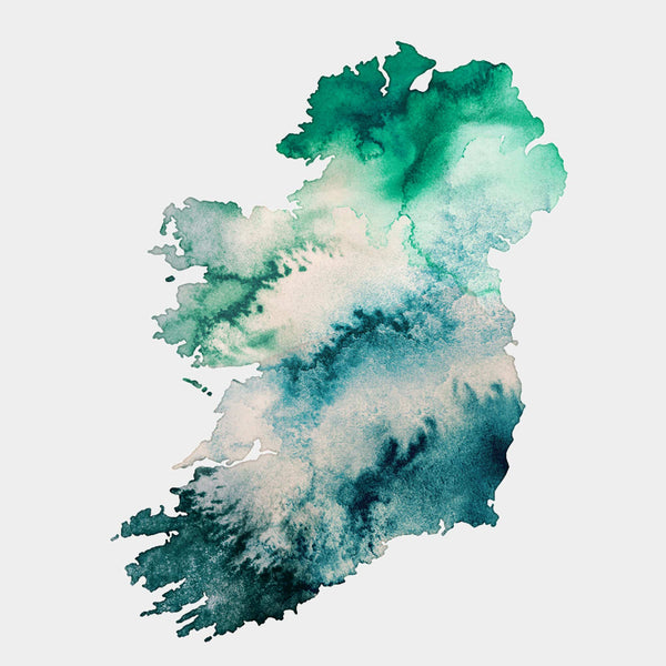 Ireland Watercolour Gold Map - EJayDesign