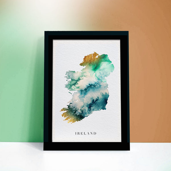 Ireland Watercolour Map - Custom Gift Art
