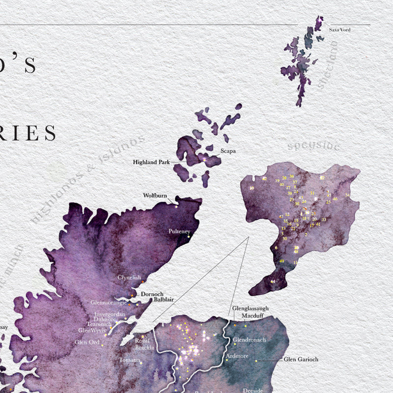 Scottish Whisky Distillery Map Tour
