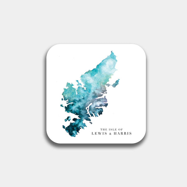 Outer Hebrides Watercolour Map Coaster