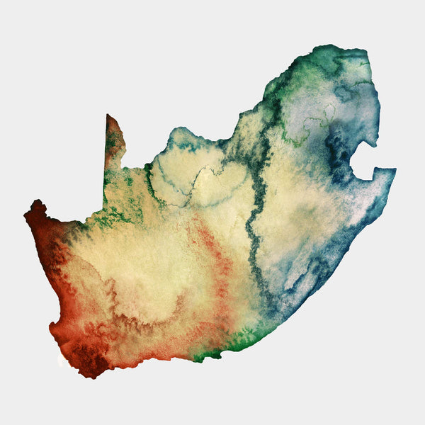 South Africa Watercolour Map Personal Gift