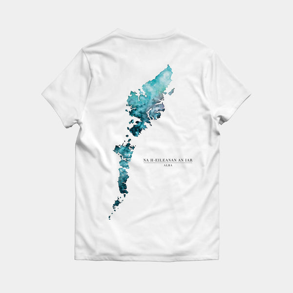 Outer Hebrides T-shirt Map
