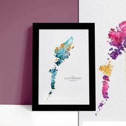 Outer Hebrides Map Scottish Gift