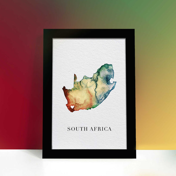South Africa Watercolour Map