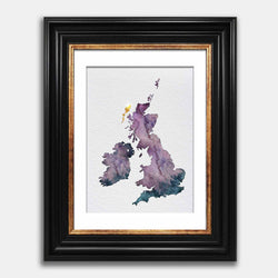 United Kingdom watercolour map